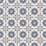 Błękitni mozaika kwiaty Fotografia Stock