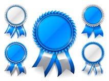 Błękitni nagroda medale Fotografia Stock