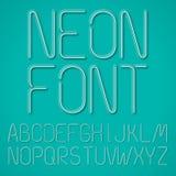 Błękitni Neonowi listy Obrazy Stock