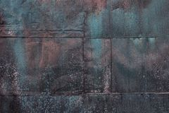 Błękitni ośniedziali metali prześcieradła obraz stock