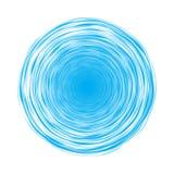 Błękitni okręgi ilustracja wektor