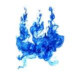 Błękitni płomienie odizolowywający na białym tle royalty ilustracja