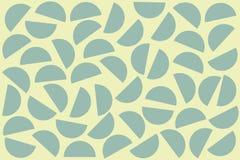 Błękitni przypadkowi półkola na białym tle Abstrakcjonistyczny geometryczny kszta?ta wz?r w retro stylu dla tkanina druku, tkanin ilustracja wektor