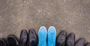 Błękitni Sneakers Fotografia Royalty Free