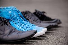 Błękitni Sneakers Obraz Royalty Free