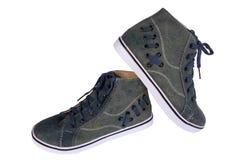 Błękitni sneakers Obrazy Stock