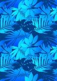 Błękitni tropikalni liście Fotografia Royalty Free