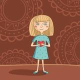 Błękitnooka blondynki dziewczyna Obraz Royalty Free