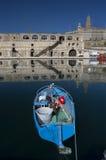 błękitny łódź obraz stock