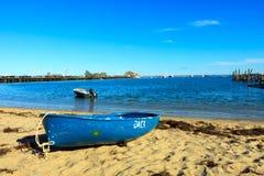 błękitny łódź zdjęcia stock