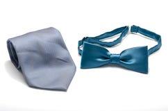Błękitny łęku i szyi krawat Obraz Stock