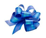 błękitny łęku odosobniony biel Zdjęcie Stock
