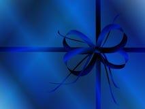 błękitny łęku papieru opakowanie Zdjęcie Stock