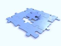 błękitny łamigłówki Obraz Stock
