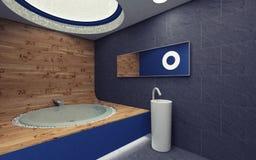 Błękitny łazienka Fotografia Royalty Free