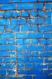 błękitny ściana z cegieł Obrazy Stock