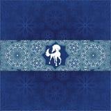 Błękitny śniegu wzór Zdjęcia Stock