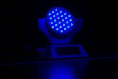Błękitny światło reflektorów Fotografia Royalty Free