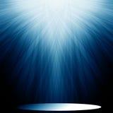 Błękitny światło reflektorów royalty ilustracja