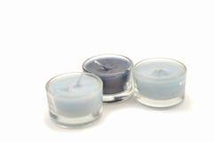 błękitny świeczki Obraz Royalty Free