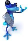 błękitny żaba ilustracja wektor