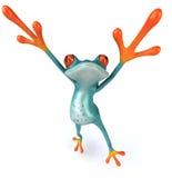 błękitny żaba Obrazy Royalty Free
