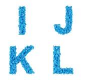 Błękitny abecadło Obraz Stock