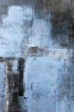 Błękitny Abstrakcjonistycznej sztuki obraz Fotografia Stock