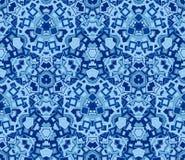 Błękitny abstrakcjonistyczny bezszwowy wzór, tło Komponujący barwioni geometryczni kształty royalty ilustracja