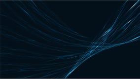 Błękitny abstrakcjonistyczny cyfrowy zaawansowany technicznie magiczny pozaziemski energetyczny elektryczny jaskrawy rozjarzony l ilustracja wektor