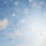 Błękitny abstrakcjonistyczny nieba tło Obrazy Royalty Free