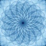 Błękitny abstrakcjonistyczny ornament royalty ilustracja