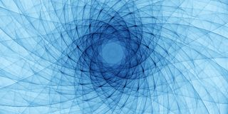 Błękitny abstrakcjonistyczny ornament Zdjęcie Stock