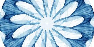 Błękitny abstrakcjonistyczny ornament Zdjęcia Stock