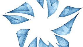 Błękitny abstrakcjonistyczny ornament Fotografia Royalty Free