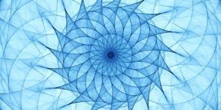 Błękitny abstrakcjonistyczny ornament Obraz Royalty Free