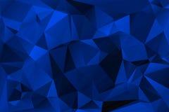 Błękitny abstrakcjonistyczny poligonalny tło Obraz Royalty Free