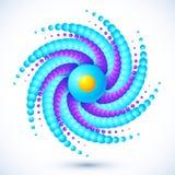 Błękitny abstrakcjonistyczny round coś z cieniem Fotografia Stock