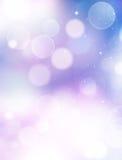 Błękitny abstrakcjonistyczny tła bokeh Fotografia Royalty Free