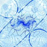 Błękitny abstrakcjonistyczny tło Zdjęcia Royalty Free