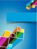 Błękitny abstrakcjonistyczny tło Obraz Stock