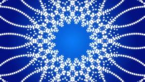 Błękitny abstrakcjonistyczny tło, kalejdoskop, pętla royalty ilustracja