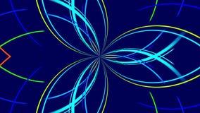 Błękitny abstrakcjonistyczny tło, kolorowy światło, pętla ilustracja wektor