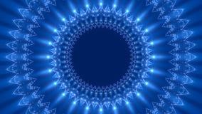 Błękitny abstrakcjonistyczny tło, pętla ilustracja wektor