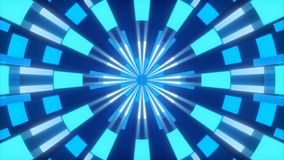 Błękitny abstrakcjonistyczny tło, ruch kształtuje, kalejdoskop, pętla royalty ilustracja