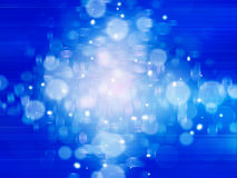 Błękitny abstrakcjonistyczny tło z lekkimi liniami Zdjęcia Royalty Free