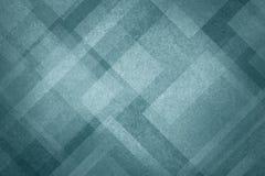 Błękitny abstrakcjonistyczny tło z nowożytnym geometrycznym deseniowym projektem i starą rocznik teksturą Obrazy Stock
