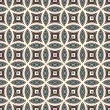 Błękitny abstrakcjonistyczny tło z pokrywać się okręgi Płatka motyw Bezszwowy wzór z klasycznym geometrycznym ornamentem Obrazy Stock