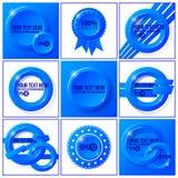 Błękitny abstrakcjonistyczny wektorowy ustawiający tła dla twój Zdjęcia Royalty Free