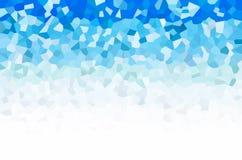 Błękitny Abstrakcjonistyczny wieloboka tło Obraz Stock